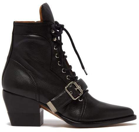 9deebcc7dc Rylee Grained Leather Ankle Boots - Womens - Black
