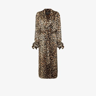 Tom Ford Leopard Print Trench Coat