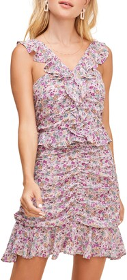 ASTR the Label Zinnia Floral Print Minidress