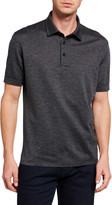 Ermenegildo Zegna Men's Twill Cotton Polo Shirt