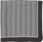 Barneys New York MEN'S MINI GLEN PLAID SILK POCKET SQUARE