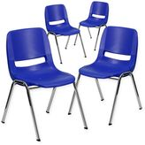 Flash Furniture 18-Inch Plastic Stack Chairs (Set of 4)