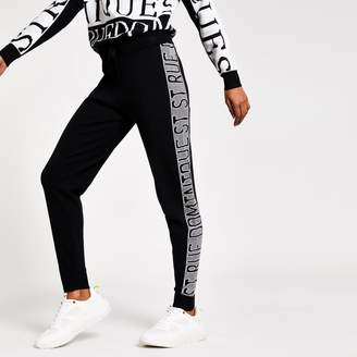 River Island Womens Petite Black 'Rue Dominique' knitted joggers