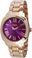 JCPenney TKO ORLOGI Womens Purple Dial Boyfriend Bracelet Watch