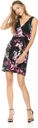 Adrianna Papell Women's Printed Jersey FIT and Flare Dress