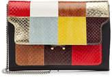 Marni Snakeskin and Leather Shoulder Bag