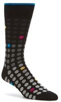Bugatchi Men's Polka Dot Crew Socks