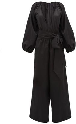 Kalita Venus Wide-leg Silk-blend Jumpsuit - Black