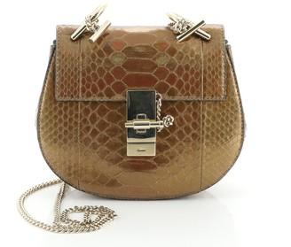Chloé Drew Crossbody Bag Python Mini