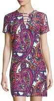 Alice & Trixie Wren Silk Shift Dress, Festival Paisley