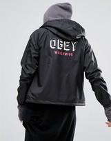 Obey Slacker Vibes Coach Jacket With Back Print