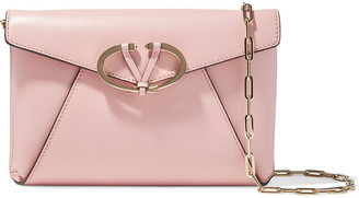 Valentino V Rivet Leather Shoulder Bag