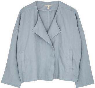 Eileen Fisher Light Blue Linen Jacket