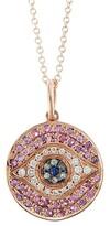 Thumbnail for your product : Ileana Makri Evil Eye 18K Rose Gold, Diamond & Multi-Stone Pendant Necklace