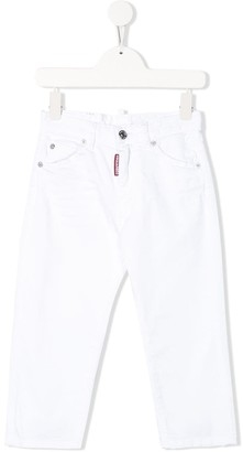 DSQUARED2 Mid-Rise Straight Leg Jeans
