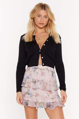Nasty Gal Womens This Is Flower Time Tiered Mini Skirt - Pink - M/L