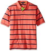 U.S. Polo Assn. Men's Big & Tall Striped Pique Polo Shirt