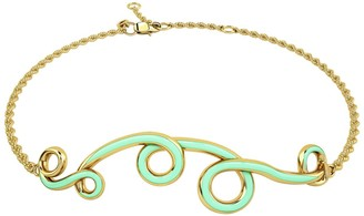 1986 Wiggle Wiggle Bracelet in Baby Green & Gold