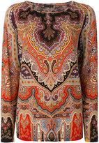 Etro paisley long sleeved top - women - Polyamide/Spandex/Elastane/Wool - 48