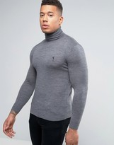 Religion Merino Roll Neck Jumper