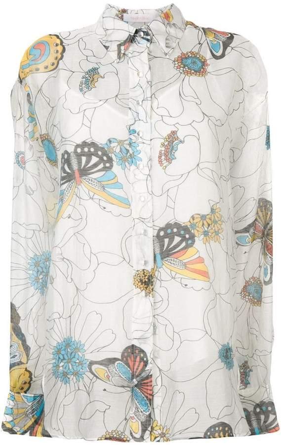 See by Chloe sheer print shirt