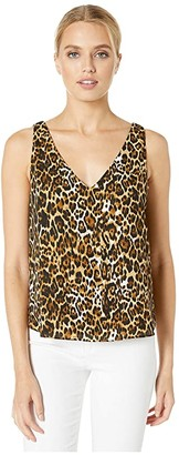 WAYF Trenton V-Neck Shell (Leopard) Women's Clothing