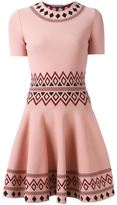 Alexander McQueen patterned A-line dress - women - Polyamide/Polyester/Spandex/Elastane/Viscose - M