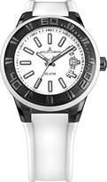 Jacques Lemans Miami Gents White Silicone Strap Watch 1-1784J