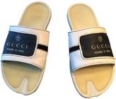 Gucci Ecru Leather Sandals