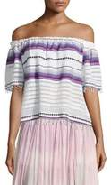 Lemlem Adia Striped Off-The-Shoulder Top
