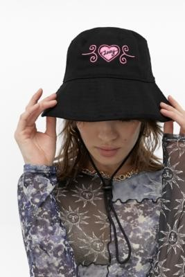 Lazy Oaf Texas Bucket Hat - Black ALL at Urban Outfitters