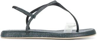 Giorgio Armani Pre Owned Slingback Flat Sandals