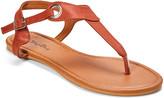 Star Bay Women's Sandals Brown - Brown Grommet-Accent T-Strap Sandal - Women