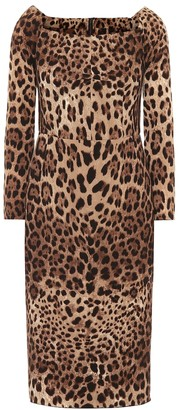 Dolce & Gabbana Leopard-print wool dress