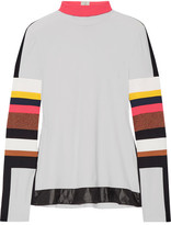 NO KA 'OI No Ka'Oi - Naka Paneled Stretch-jersey Turtleneck Top - Off-white