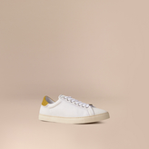 Burberry Mesh And Leather Trainers