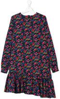 MSGM asymmetric floral print dress