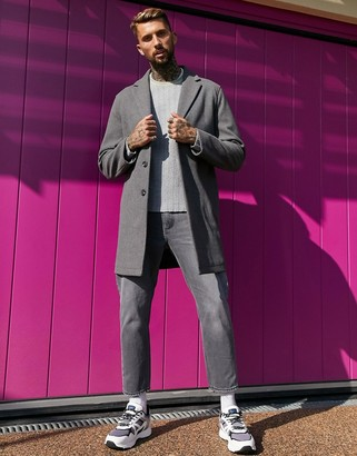 ASOS DESIGN unlined overcoat in grey