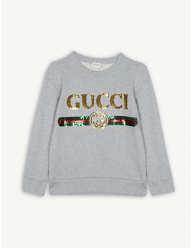 990ad4389 Gucci Gray Girls' Sweatshirts - ShopStyle