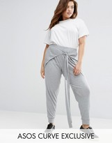Asos Rib Jogger with Tie Front