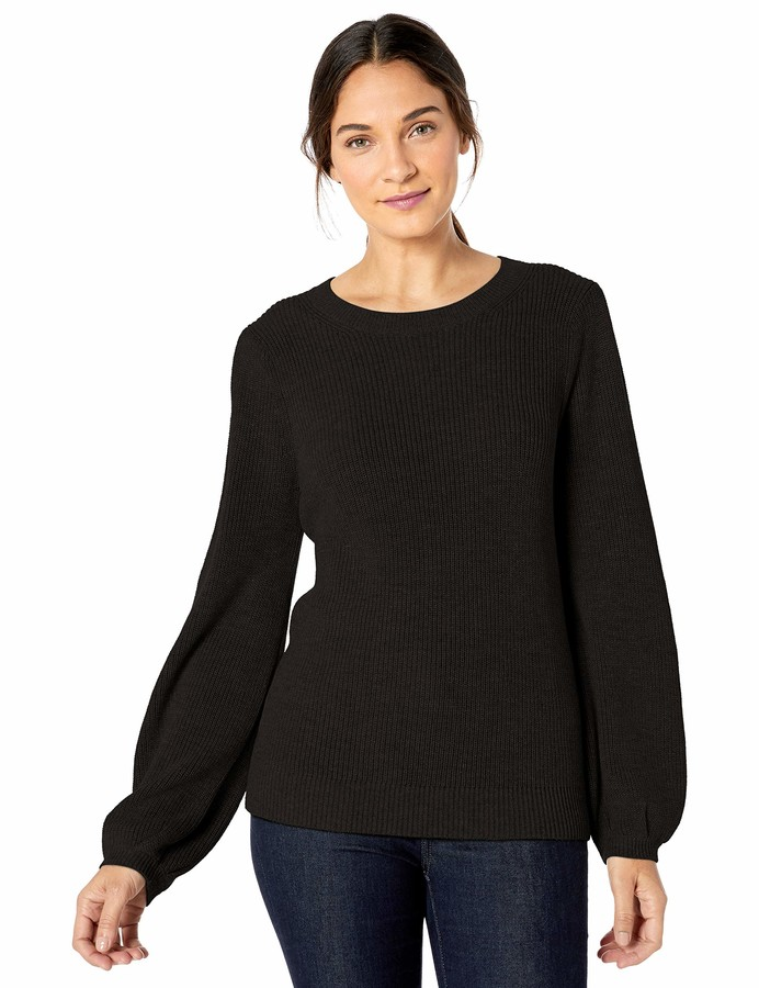 Lark & Ro Bell Sleeve Sweater Black