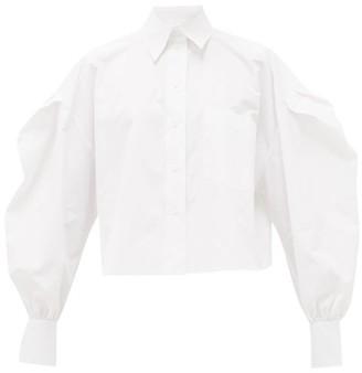 Valentino Puff-sleeved Cotton Shirt - White