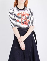 Mo&Co. Moscow striped cotton-knit top