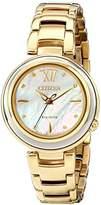 Citizen Eco-Drive Women's EM0334-54D L Sunrise Analog Display Gold Watch
