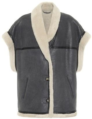 Etoile Isabel Marant Adelia leather and shearling vest