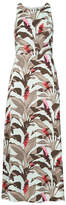 Banana Republic Tropical Fit-and-Flare Maxi Dress