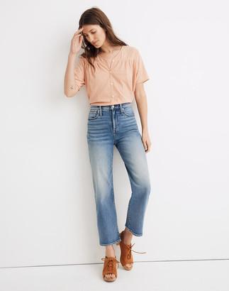 Madewell Slim Wide-Leg Crop Jeans in Reggie Wash
