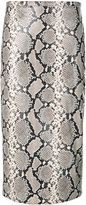 Rochas python effect skirt - women - Calf Leather/Cupro - 40