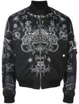 Givenchy Tattoo Print Bomber Jacket - Black - Size EU46