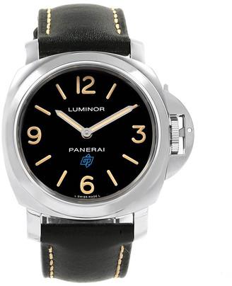 Panerai Black Stainless Steel Luminor Acciaio Logo Paneristi 15th Anniversary PAM00634 Men's Wristwatch 44 MM